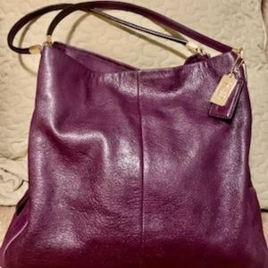 Coach Plum leather